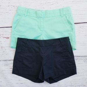 J.Crew Black & Mint Green Chino Shorts